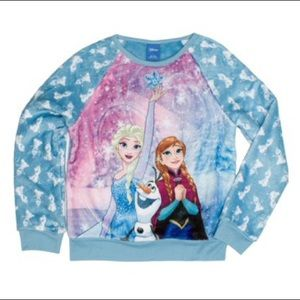 Disney Frozen Girl's Minky Fleece Sweatshirt
